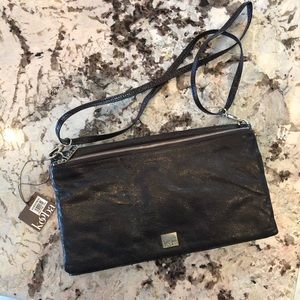 Kooba Black Leather Crossbody Brand New